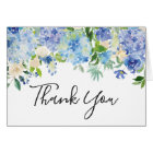 Watercolor Blue Hydrangeas Thank You Card