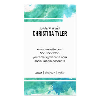 Watercolor | Blue Pack Of Standard Business Cards