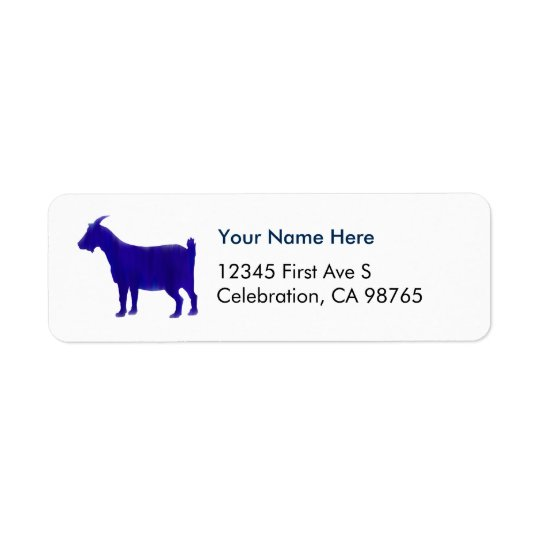 Watercolor Blue Return Address Label