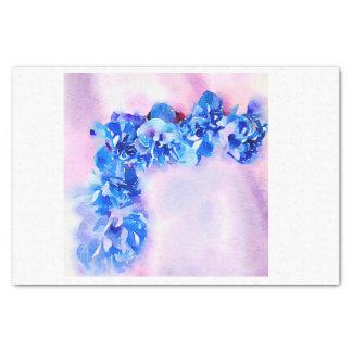 Watercolor Blue Roses for Corner Decoupage Tissue Paper