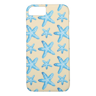 Watercolor Blue Starfish Pattern iPhone 8/7 Case