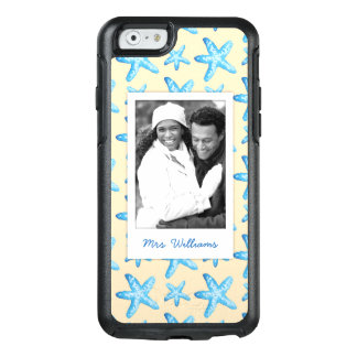 Watercolor Blue Starfish | Your Photo & Name OtterBox iPhone 6/6s Case