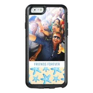 Watercolor Blue Starfish | Your Photo & Text OtterBox iPhone 6/6s Case