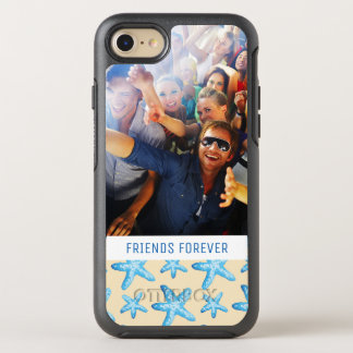 Watercolor Blue Starfish | Your Photo & Text OtterBox Symmetry iPhone 8/7 Case