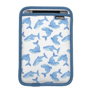 Watercolor Blue Whale Pattern iPad Mini Sleeve