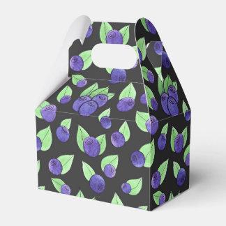 Watercolor blueberry favour box