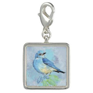 Watercolor Bluebird Oregon Grape Garden Bird