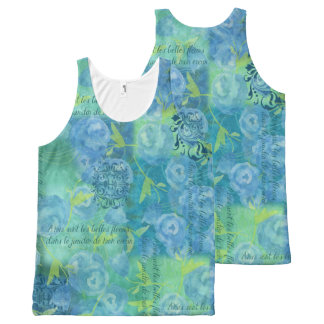 Watercolor Blues All-Over Print Tank Top