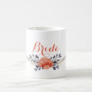 Watercolor Boho Bride Mug