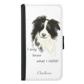 Watercolor Border Collie Dog Humor Herding Quote