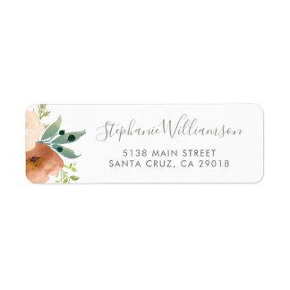 Watercolor Botanical Flowers Garden Wedding
