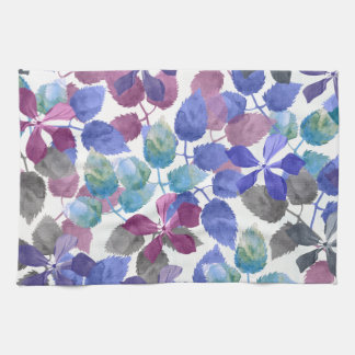 watercolor Botanical garden II Tea Towel