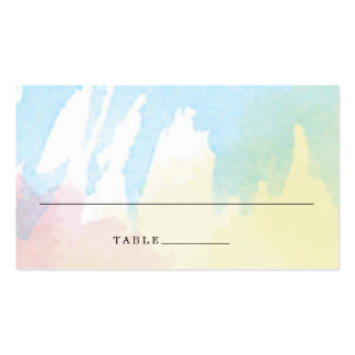 Watercolor Bouquet Wedding Escort Place Cards Pack Of Standard Business Cards