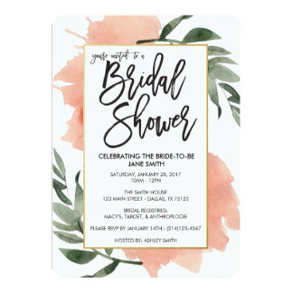 Watercolor Bridal Shower Card