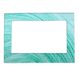 watercolor brush curved line texture magnetic photo frame