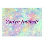 Watercolor Bubbles custom Invite
