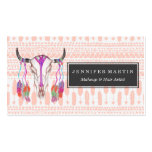 Watercolor Bull Skull Feathers and Arrow Aztec Pack Of Standard Business Cards