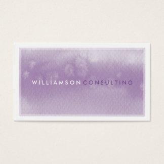 WATERCOLOR BUSINESS CARD :: modern trendy purple