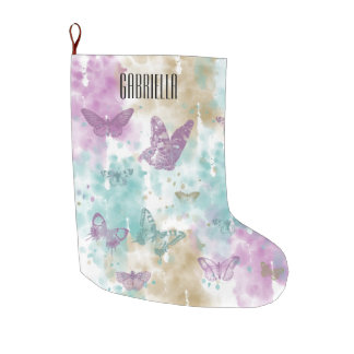 Watercolor Butterflies Abstract Personalized