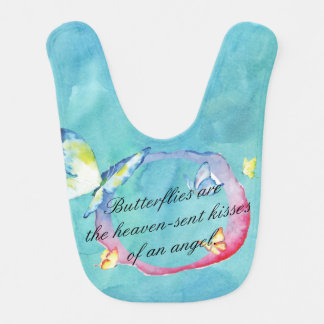 Watercolor Butterflies Bib