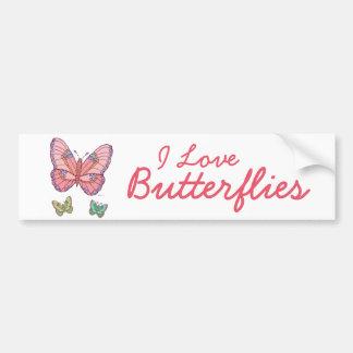 Watercolor Butterflies Bumper Sticker