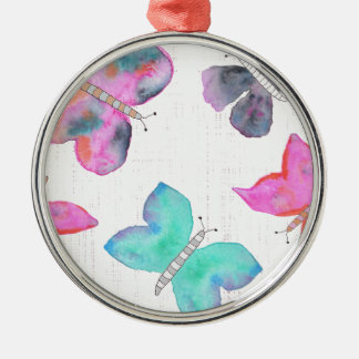 Watercolor Butterflies Christmas Ornament
