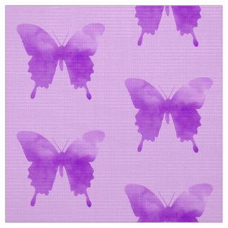 Watercolor Butterflies - Lavender and Violet Fabric