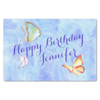 Watercolor Butterflies Tissue Paper