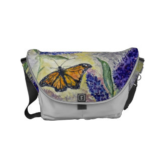 Watercolor Butterfly Design Small Messenger Bag