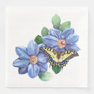 Watercolor Butterfly Dinner Paper Napkins