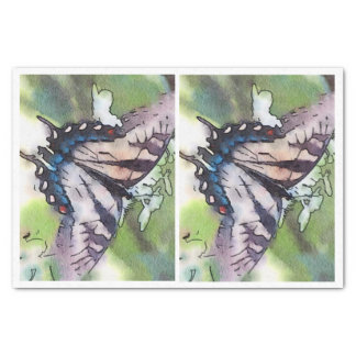 Watercolor Butterfly for glass bottle decoupage Tissue Paper
