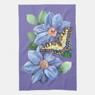 Watercolor Butterfly Kitchen Towel