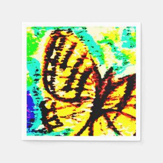 Watercolor  Butterfly Paper Serviettes