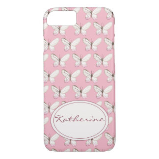 Watercolor Butterfly Pattern | Pink iPhone Case