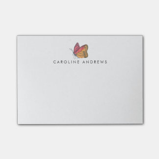 Watercolor Butterfly Personalized Post-it Notes