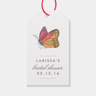 Watercolor Butterfly Red Bridal Shower Favor