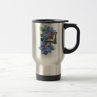 Watercolor Butterfly Travel Mug
