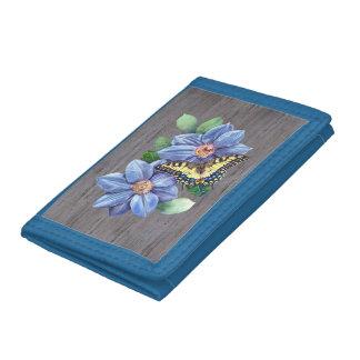 Watercolor Butterfly TriFold Nylon Wallet