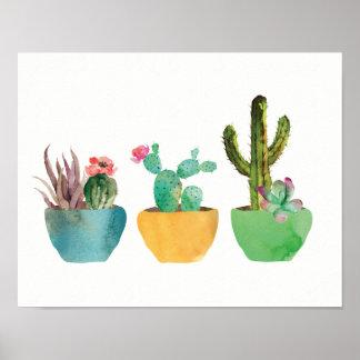 Watercolor Cactus and Succulent Print