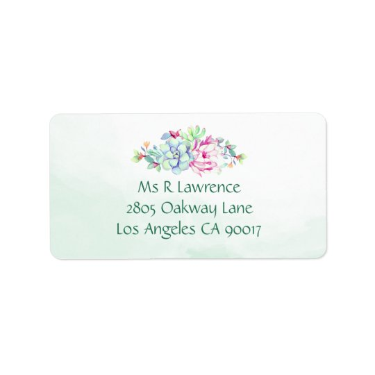 Watercolor Cactus Flower Address Labels