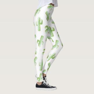 Watercolor Cactus Leggings