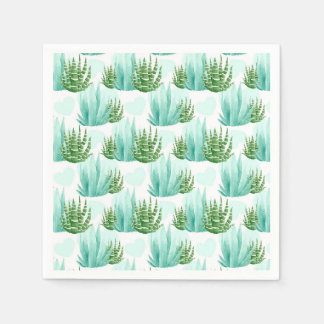 Watercolor cactus pattern party napkins disposable serviette