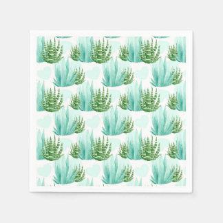 Watercolor cactus pattern party napkins paper napkins