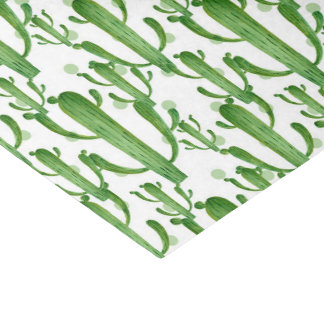 Watercolor cactus pattern party tissue tissue paper