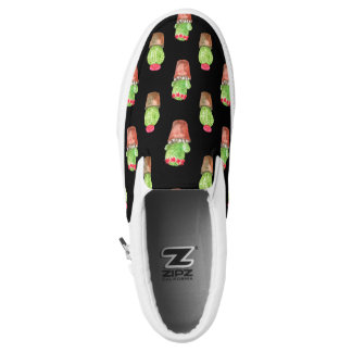 Watercolor Cactus Pattern Slip-On Shoes