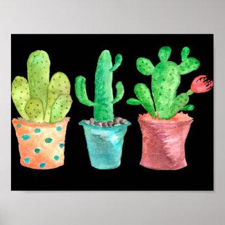 Watercolor Cactus Poster