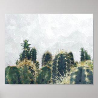 Watercolor cactus print | 10x8
