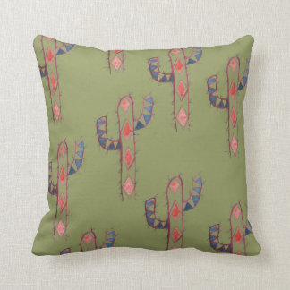 Watercolor Cactus Print Pillow