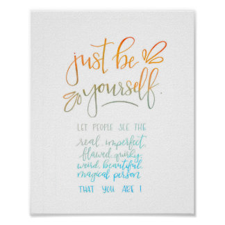 Watercolor Calligraphy Quote Poster