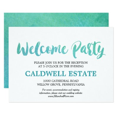 Wedding welcome party invitation wedding vows zazzle stopboris Image collections